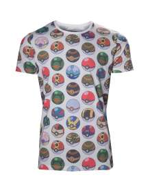 T-shirt POKÉMON - ALLOVER PRINT POKÉ BALL